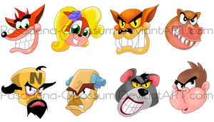 Crash Bash Character Icons by Pasadena-Opossum