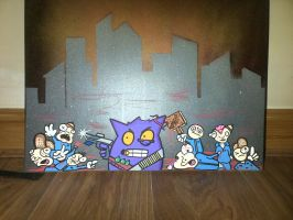Gengar Killing Spree by SUREGRAFFITI