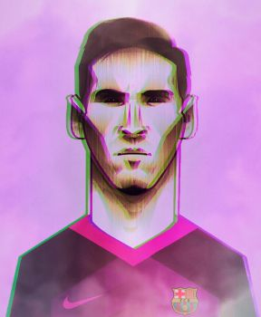 Messi with new barca away kit 2016/2017 by Leo10thebest