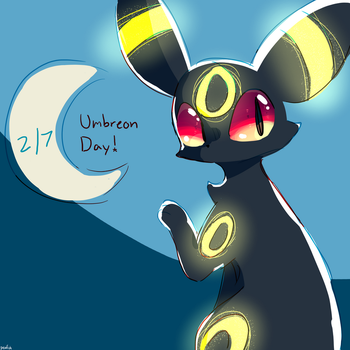happy umbreon day!!!! by pink-n-silver