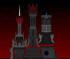 The Towers of Arcane Guild Hall by NeonBlacklightTH