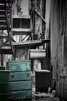 Grunge Alley - muted colors by TomFawls
