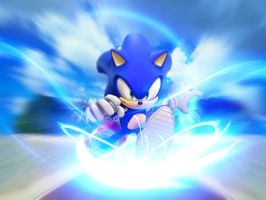 Sonic speed by Kobaltmaster