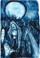 Cemetry - the etching by Raven-For-Evermore