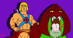 He-Man and Battle Cat by TheGoofDaddy