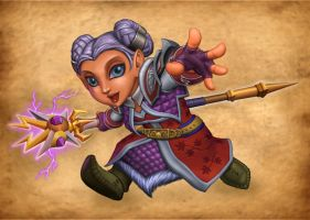 Frostina, Warcraft Gnome Mage by peetcooper
