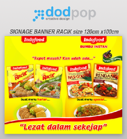 signage banner racik by dodpop