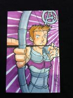 Sketch Card: Hawkeye by KnoppGraphics