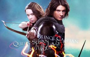 Queen Susan and Prince Caspian by Jugoria