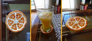 Orange Drink Coaster by argentinian-queen