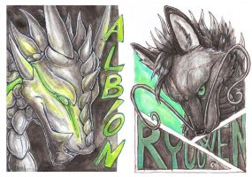 Albion and Ryuuwen badge by Kirsch-vanderWit