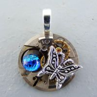 Steampunk Butterfly Pendant by Create-A-Pendant