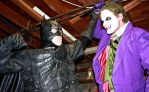 Batman vs. Joker by cosplaynut