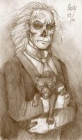 Erik with cat by Vihma