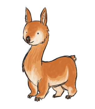 Combining two different animals - Vicuna + Wombat by Chipflake