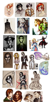 Massive Sketchdump of Requests by HollyTheTerrible