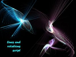 Script .. lines and rotations by gitte