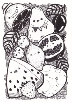 Fruits doodle by LadyInBlack89