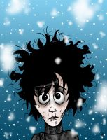Edward Scissorhands Cartoon by Naomeart