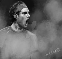 Rafael Nadal Digital Painting...^_^ by Sandycreativeart