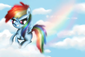Filly Rainbow in the sky by fra-92