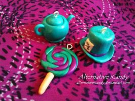 Alice in Wonderland Charms by alternativeicandy