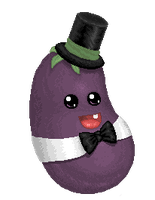 Baby Eggplant (Edited) by Artzygrrl