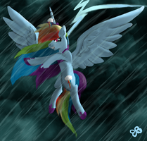 Alicorn Rainbow Dash by Brookreed