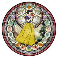 Princess Snow White - Kingdom Hearts Stain Glass by reginaac57