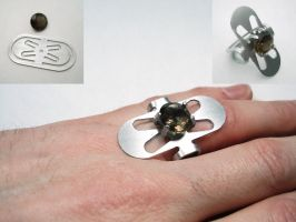 ring a day 49...flat prong by noformdesign
