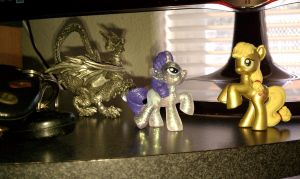 MLP:FIM Wave 4 figurines with custom painted manes by SkycatcherEquestria