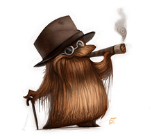 Day 537. Sketch Dailies Challenge - Cousin IT by Cryptid-Creations