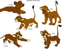 Bamidele x Ahadi cubs by digimonfrontier77
