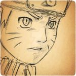Naruto Old Paper Digital Sketch by Fighter4luv