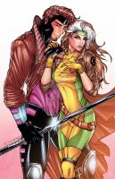 Gambit and Rogue by sorah-suhng