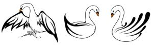 Swan tattoo by Smilie-Grim-Reaper