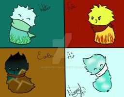 Elemental Scarfblob Adopts - OPEN! by NommyPanda