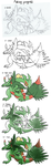 Mega Sceptile: Making process by SoftMonKeychains