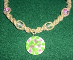 Phat Hemp Lilly Pond Necklace by Psy-Sub
