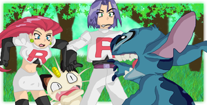 Stitch Meets Team Rocket by andy-pants