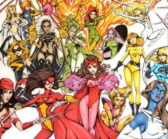 Marvel Women Pt.1 by NickUnlimited