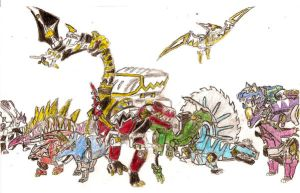 Zords redone by BadDogg