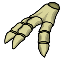 Dino skeleton hand by BlackMage1234