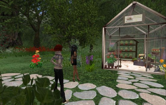 Grace inspect the greenhouse by Leah-Maries