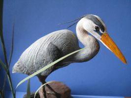 Miniature Great Blue Heron 2 by Bagheera3