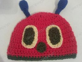 The Very Hungry Caterpillar Beanie Hat by crafterchick