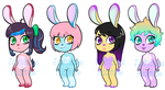 Bunny Adoptables_Set1 by BoneHatter