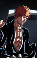 Ichigo's rain drags black sun down by Akira-12