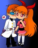 FusionFall Dexter and Blossom by IBStudent07