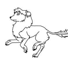 Calines run animation outlined by cyngawolf